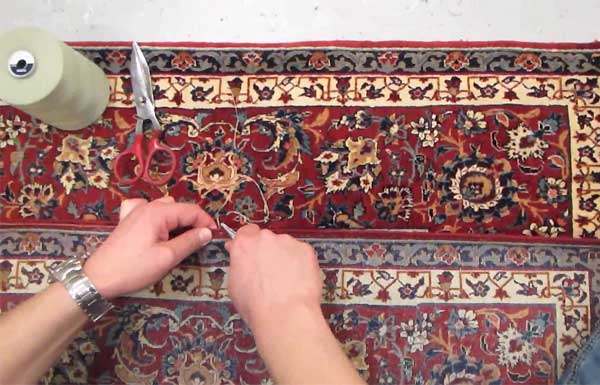 Reparation/Restauration tapis - Lisieres - video2