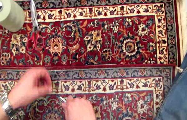 Reparation/Restauration tapis - Lisieres - video3